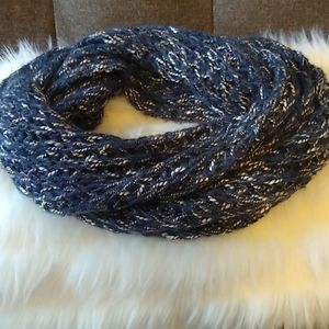 Navy Blue infinity cashmere scarf